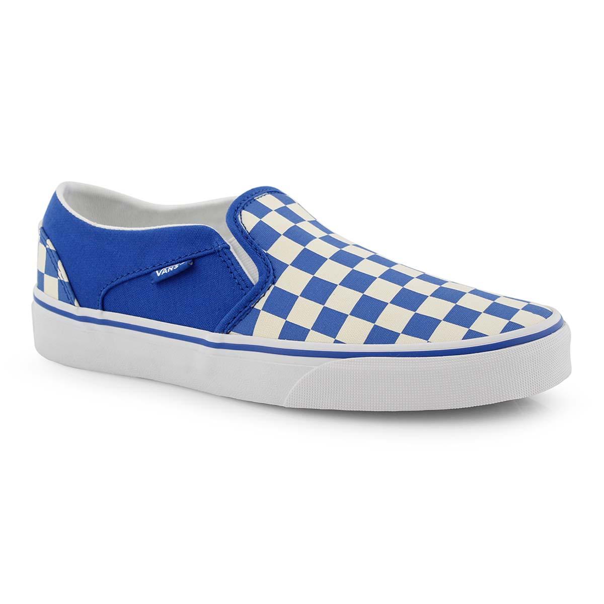 vans damier bleu