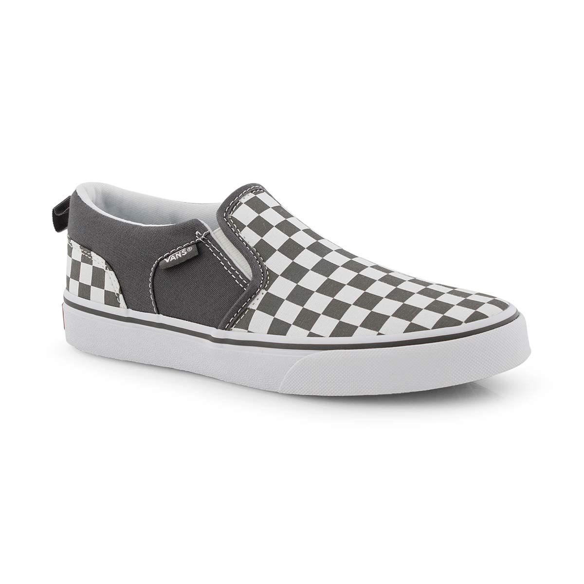 pretty cheap choose newest sophisticated technologies Boys' ASHER pewter/white checkered slip on sneaker