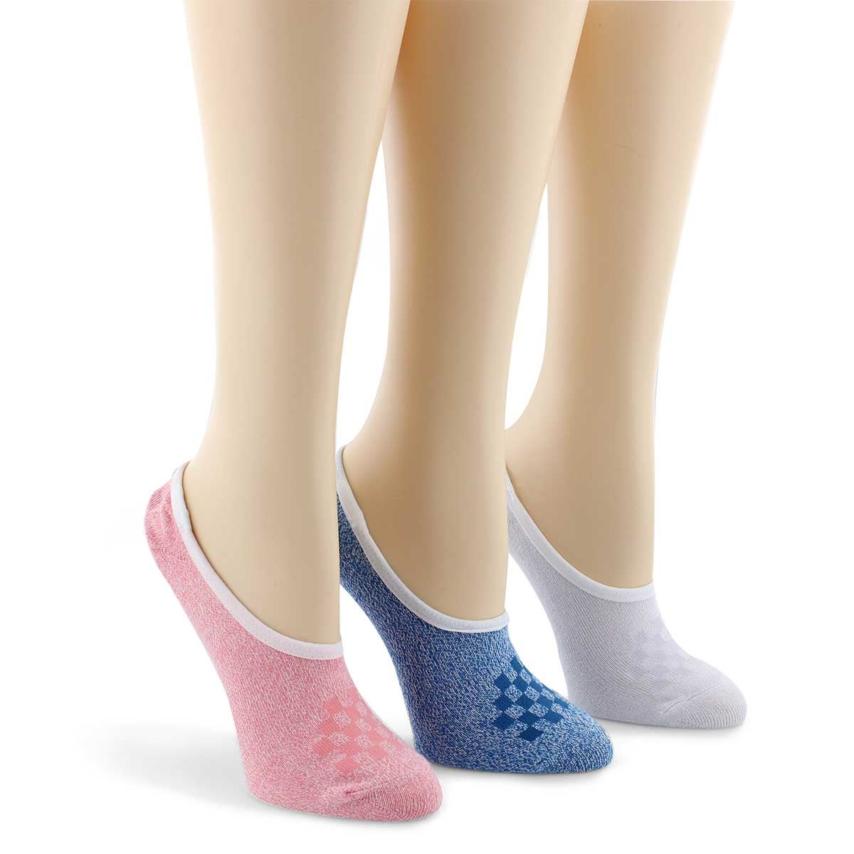Lds Classic Canoodle multi ankle sock 3p