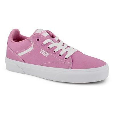 Lds Seldan fuchsia pink/wht lace up snkr