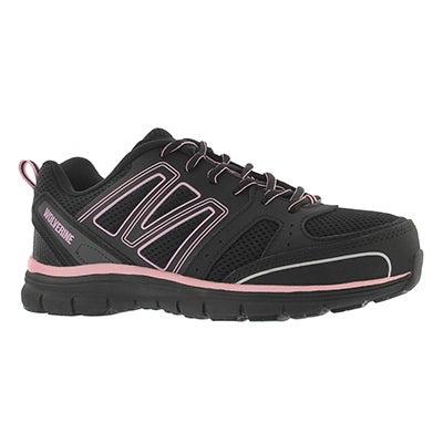 Lds Nimble bk/pk lace up CSA safety shoe