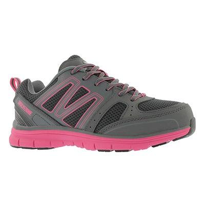 Lds Nimble gy/pk lace up CSA safety shoe