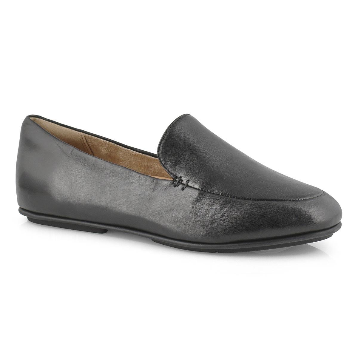 Lds Lena Loafer black casual slip on