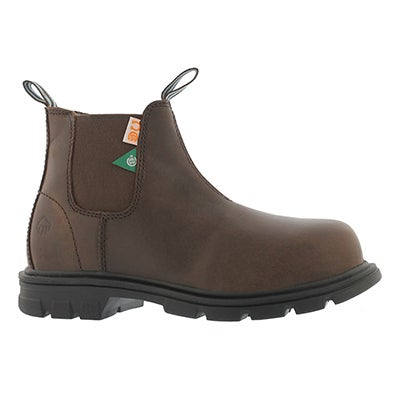 Lds Belle brown CSA safety chelsea boot