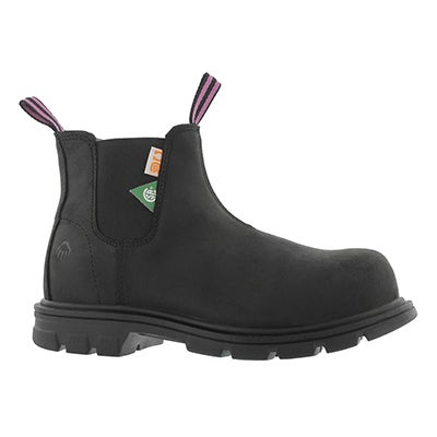 Lds Belle black CSA safety chelsea boot