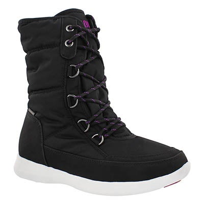 Lds Wagu blk wtpf lace up winter boot
