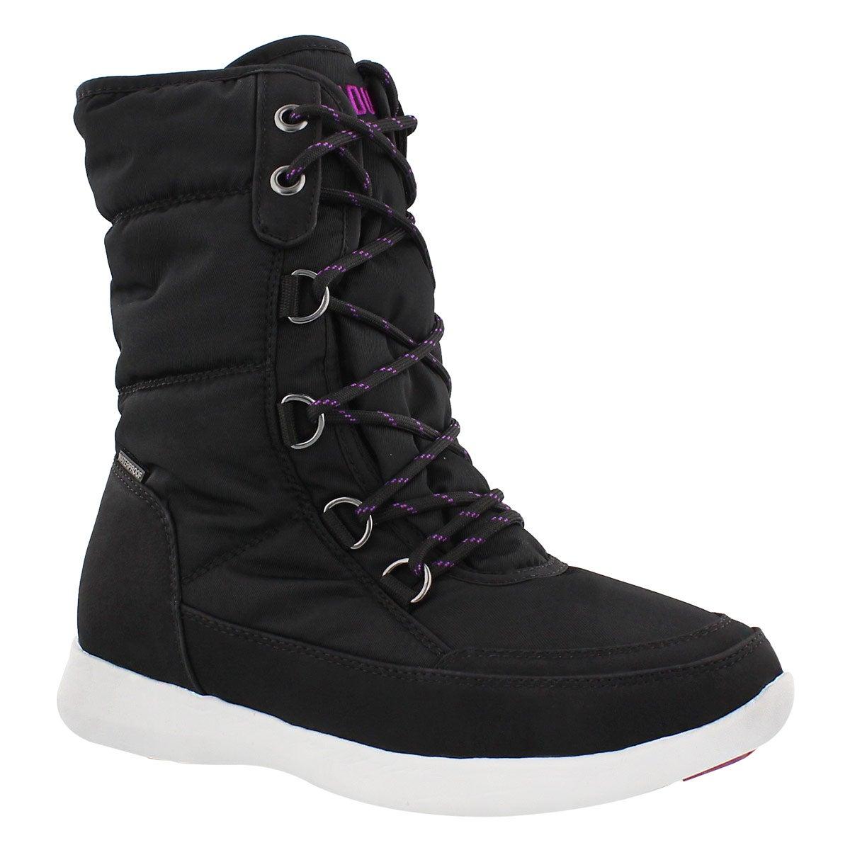 Lds Wagu blk wtpf lace up winter boot