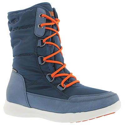 Cougar Bottes d'hiver imperméables lacées WAGU, bleu, fem