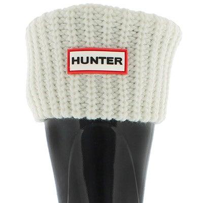 Lds Half Cardigan Short white boot sock