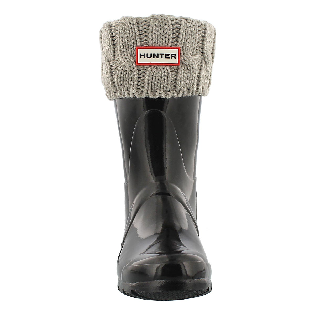 Lds 6 Stitch Cable grey short boot sock