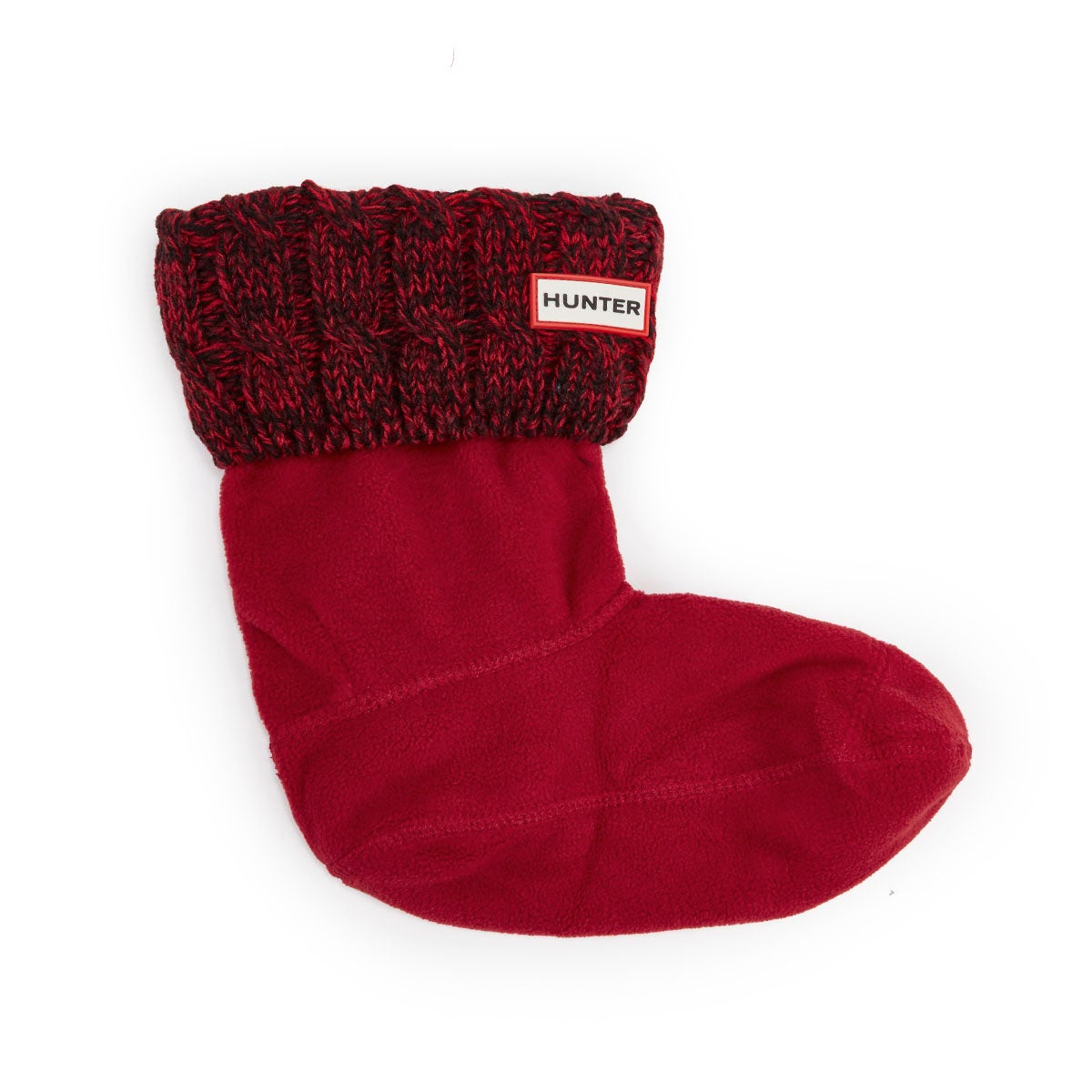 Lds 6 Stitch Cable red short boot sock