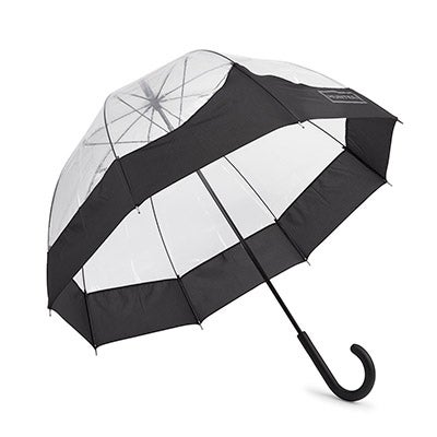 Hunter Women's ORIGINAL MOUSTACHE BUBBLE blk umbrellas