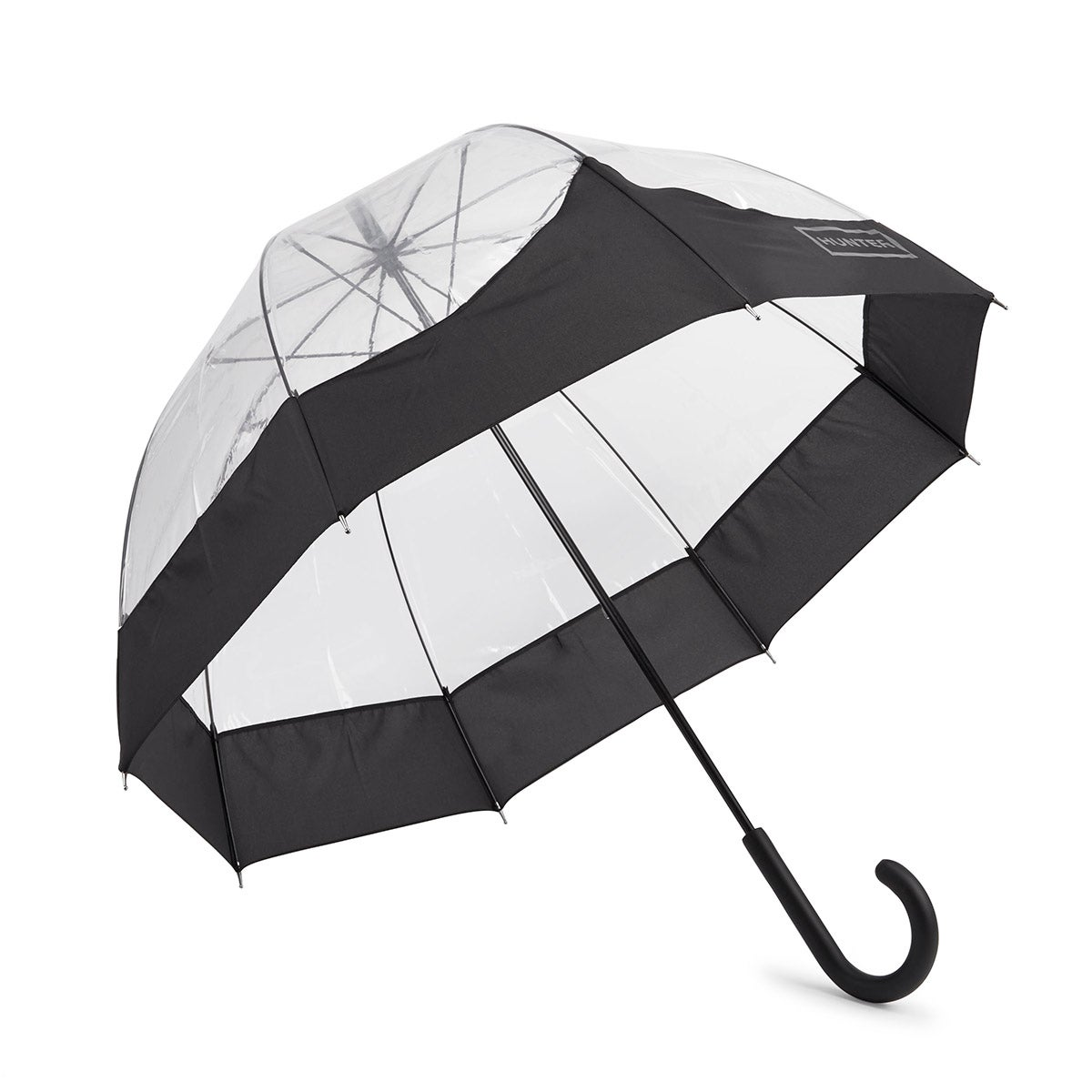 Lds Orig Moustache Bubble blk umbrella