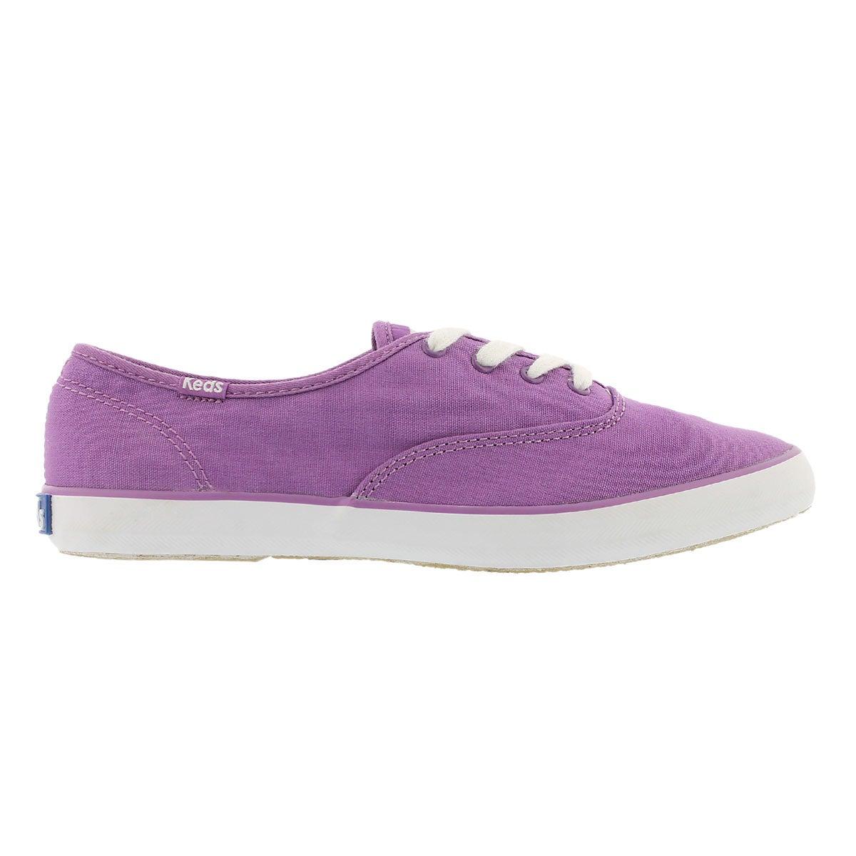 Espadrilles Champion toile violette, fem