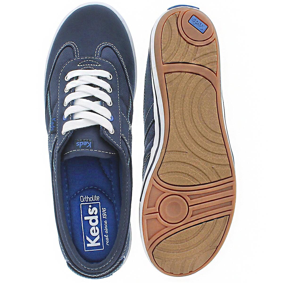 Lds Craze T-Toe navy sneaker