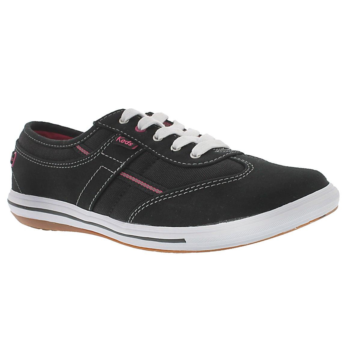 Women's CRAZE T-TOE black sneakers