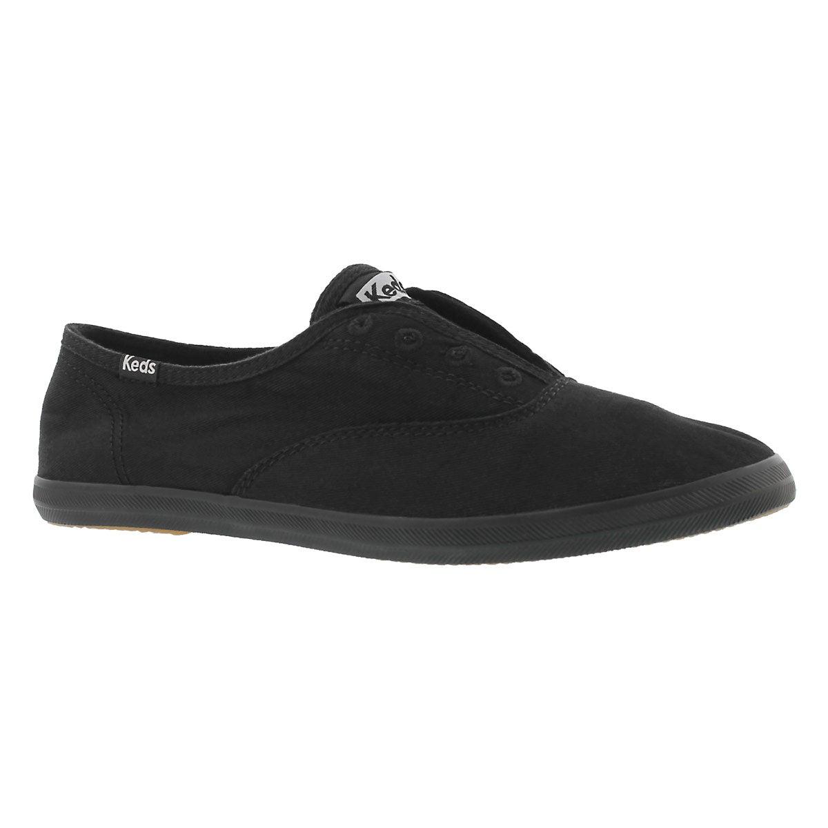 Women's CHILLAX black slip on sneakers