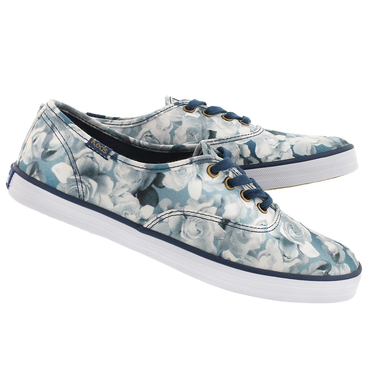 Lds Frost Floral blue printed sneaker