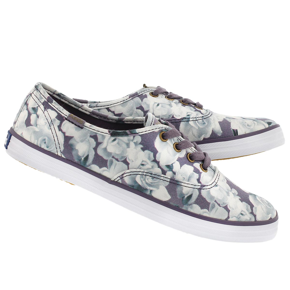 Lds Frost Floral purple printed sneaker