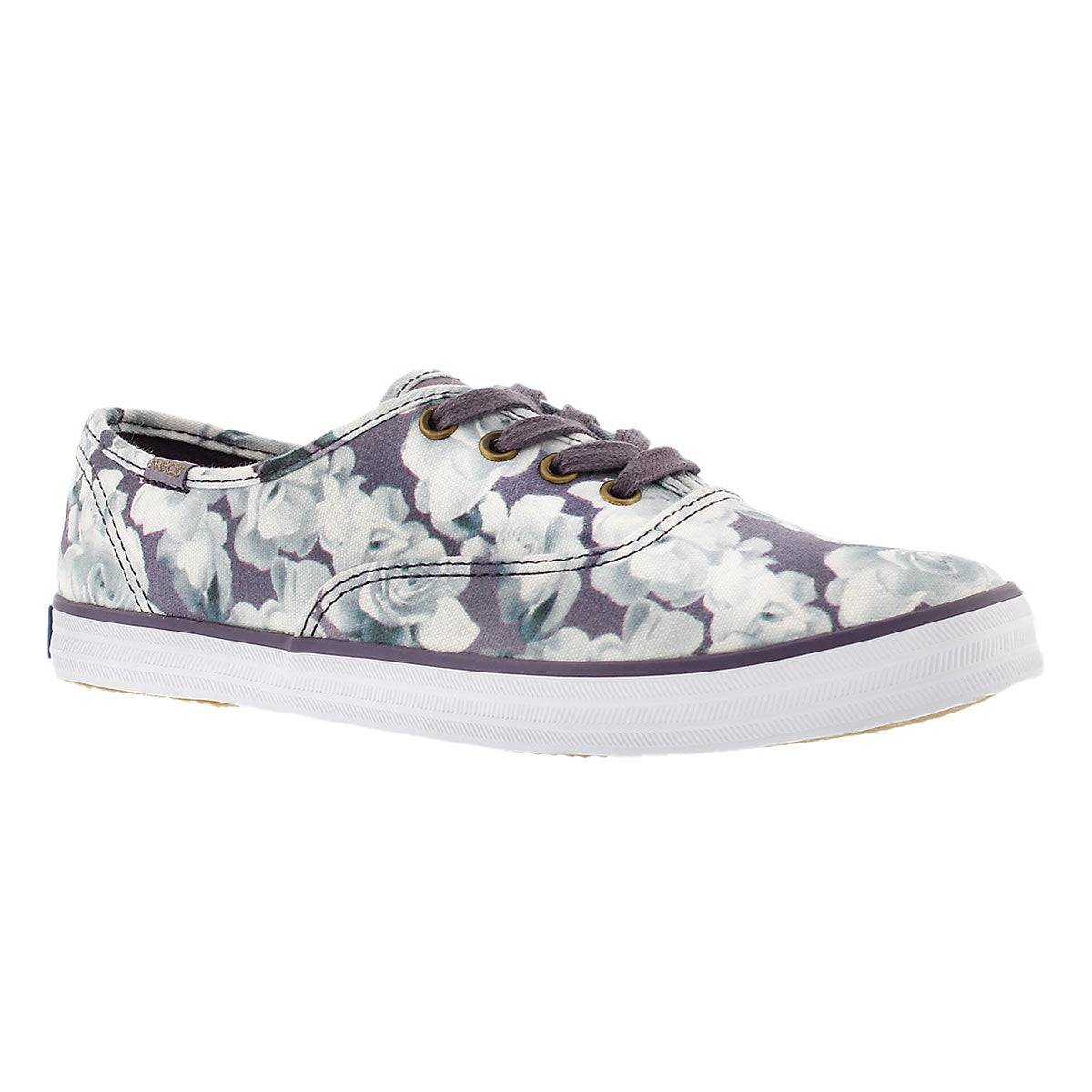 Women's FROST FLORAL purple printed sneakers