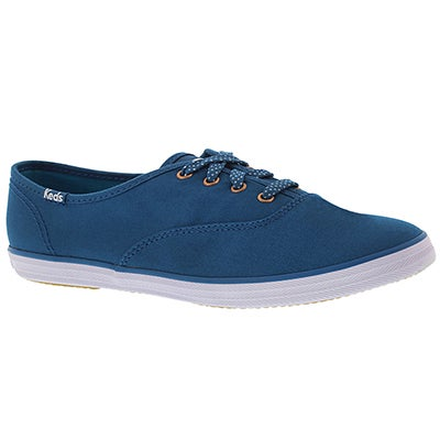 Keds Women's CHAMPION SOLID blue canvas sneakers