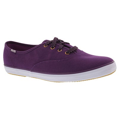 Keds Women's CHAMPION SOLID purple canvas sneakers