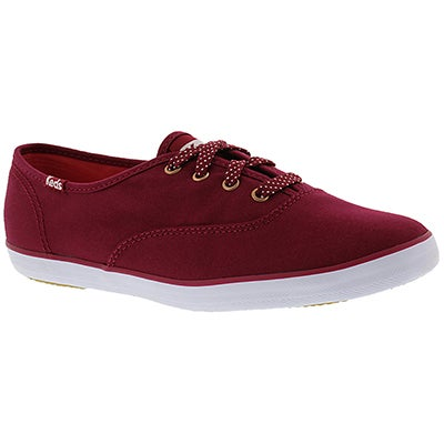 Keds Women's CHAMPION SOLID red canvas sneakers