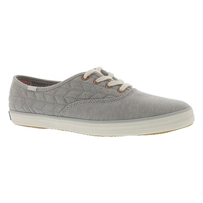Keds Women's CHAMPION QUILT JERSEY grey sneakers