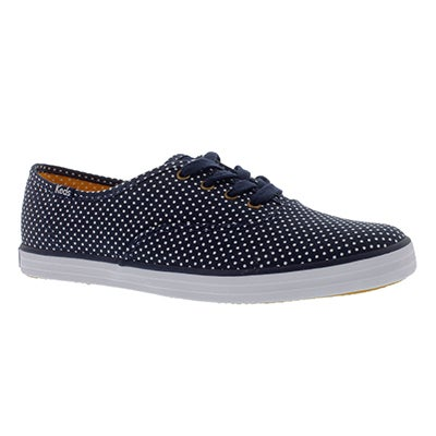 Keds Women's CHAMPION MICRO DOT navy sneakers