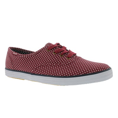 Keds Women's CHAMPION MICRO DOT red sneakers