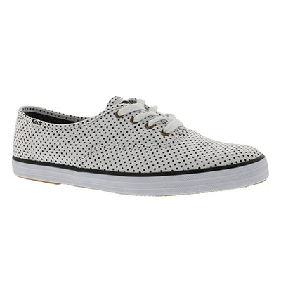 Keds Women's CHAMPION MICRO DOT white sneakers