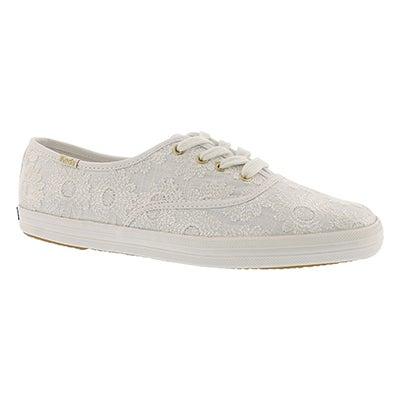 Lds Kate Spade Daisy ivory sneaker