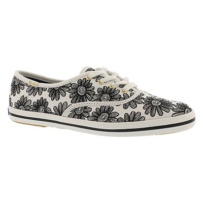 Keds Women's CHAMPION KATE SPADE DAISY black sneakers