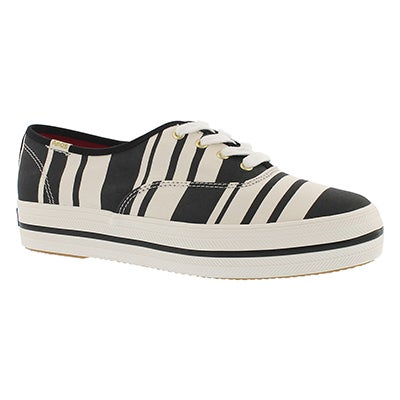 Keds Women's TRIPLE KATE SPADE STRIPE black sneakers