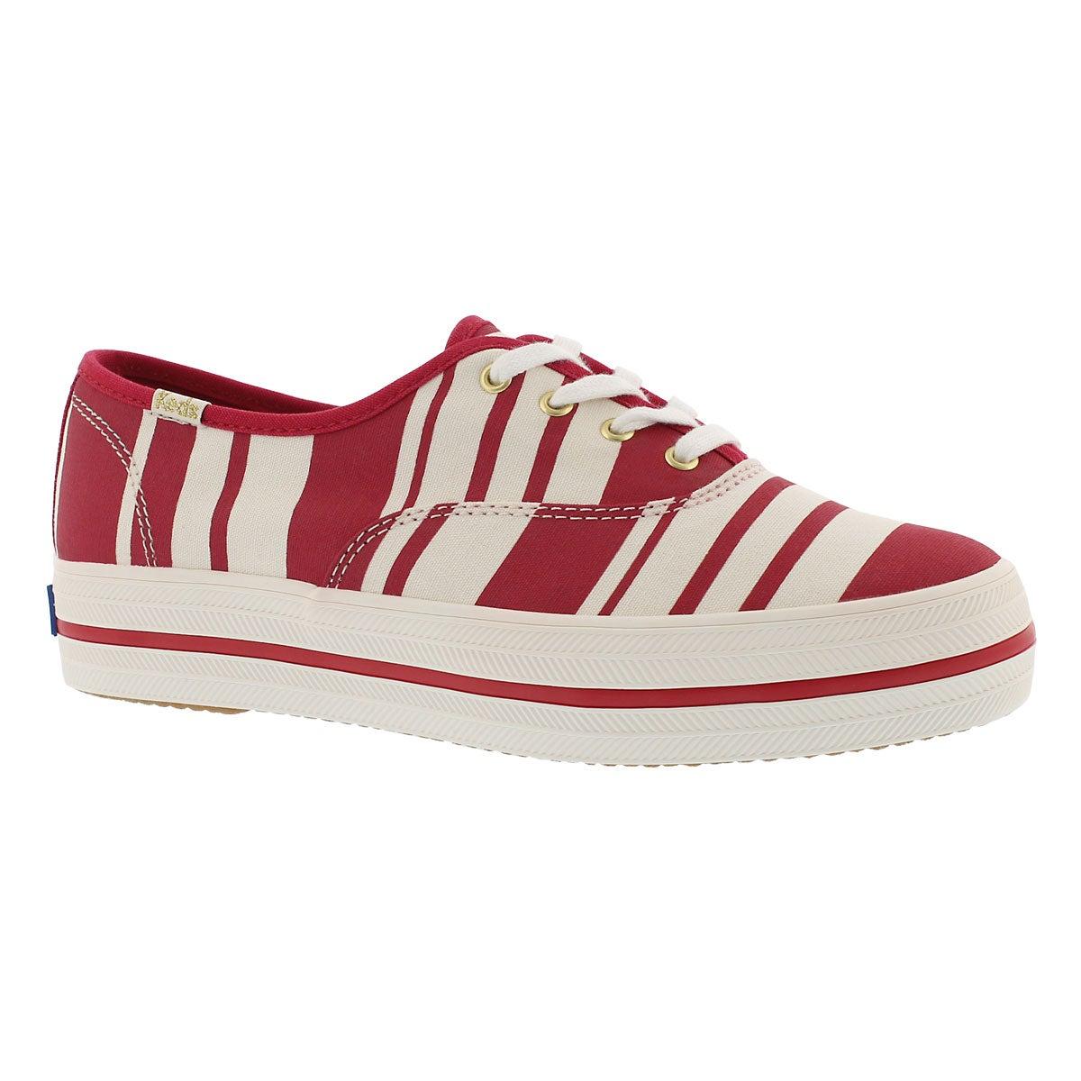 Women's KATE SPADE TRIPLE STRIPE red sneakers