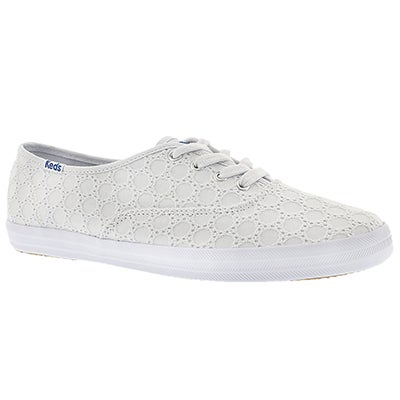 Keds Women's CHAMPION EYELET white sneakers