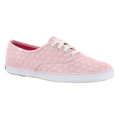 Keds Women's CHAMPION EYELET light pink sneakers