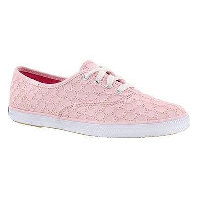 Lds Champion Eyelet light pink sneaker