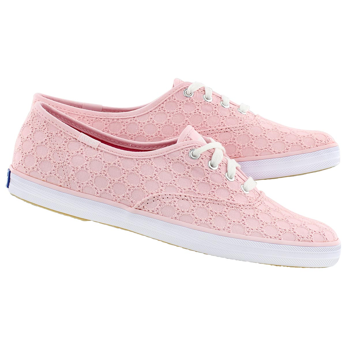 keds s chion eyelet light pink sneakers