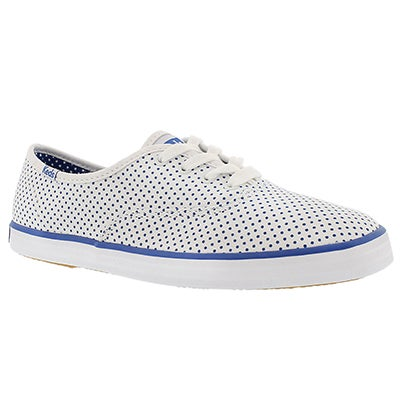 Keds Women's CHAMPION MICRO DOT white/blue sneakers