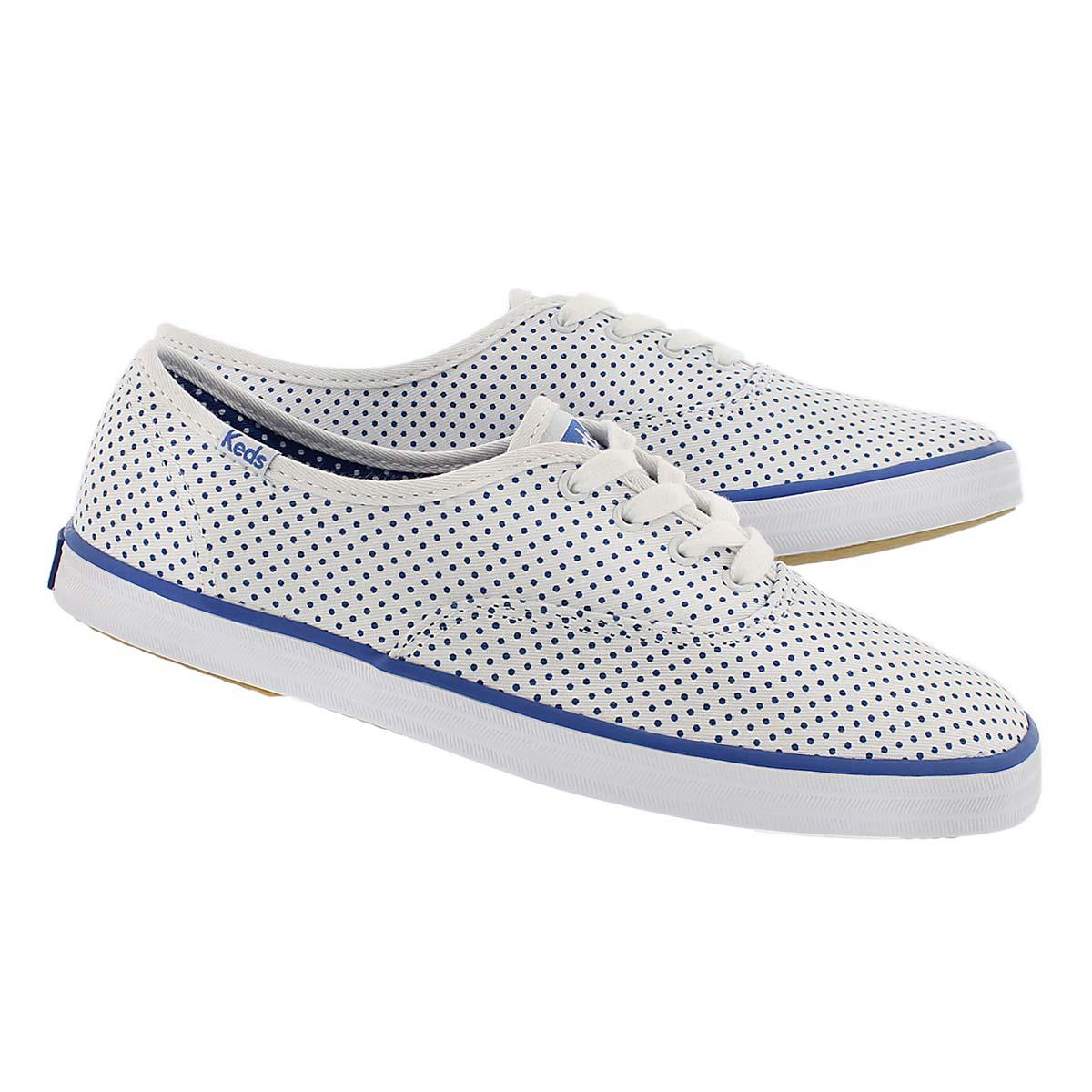 Lds Champion Micro Dot wht/blu sneaker