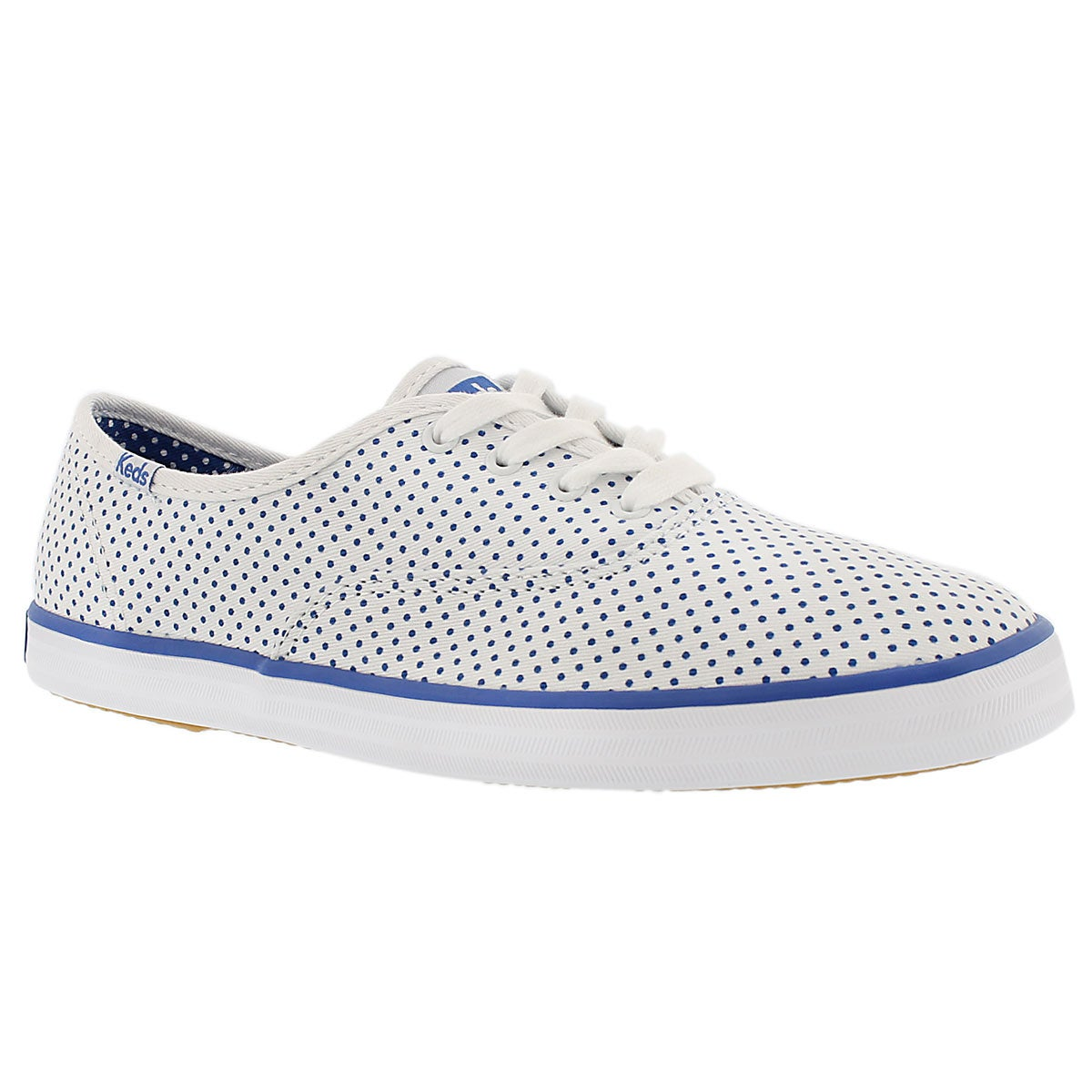 Women's CHAMPION MICRO DOT white/blue sneakers