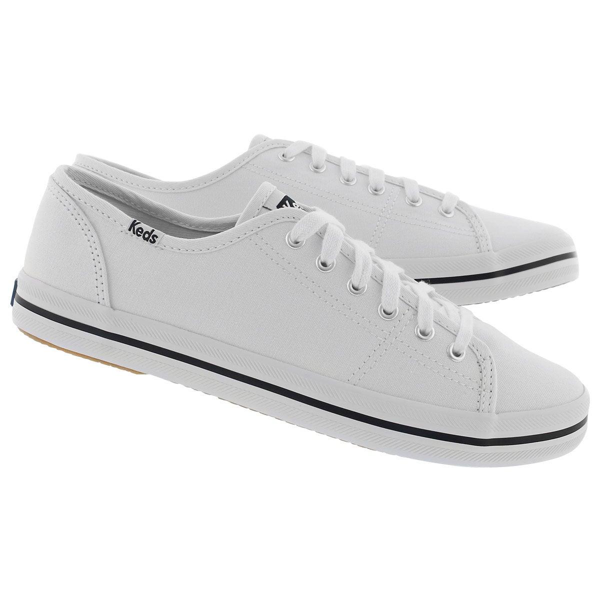 Lds Kickstart white canvas CVO sneaker