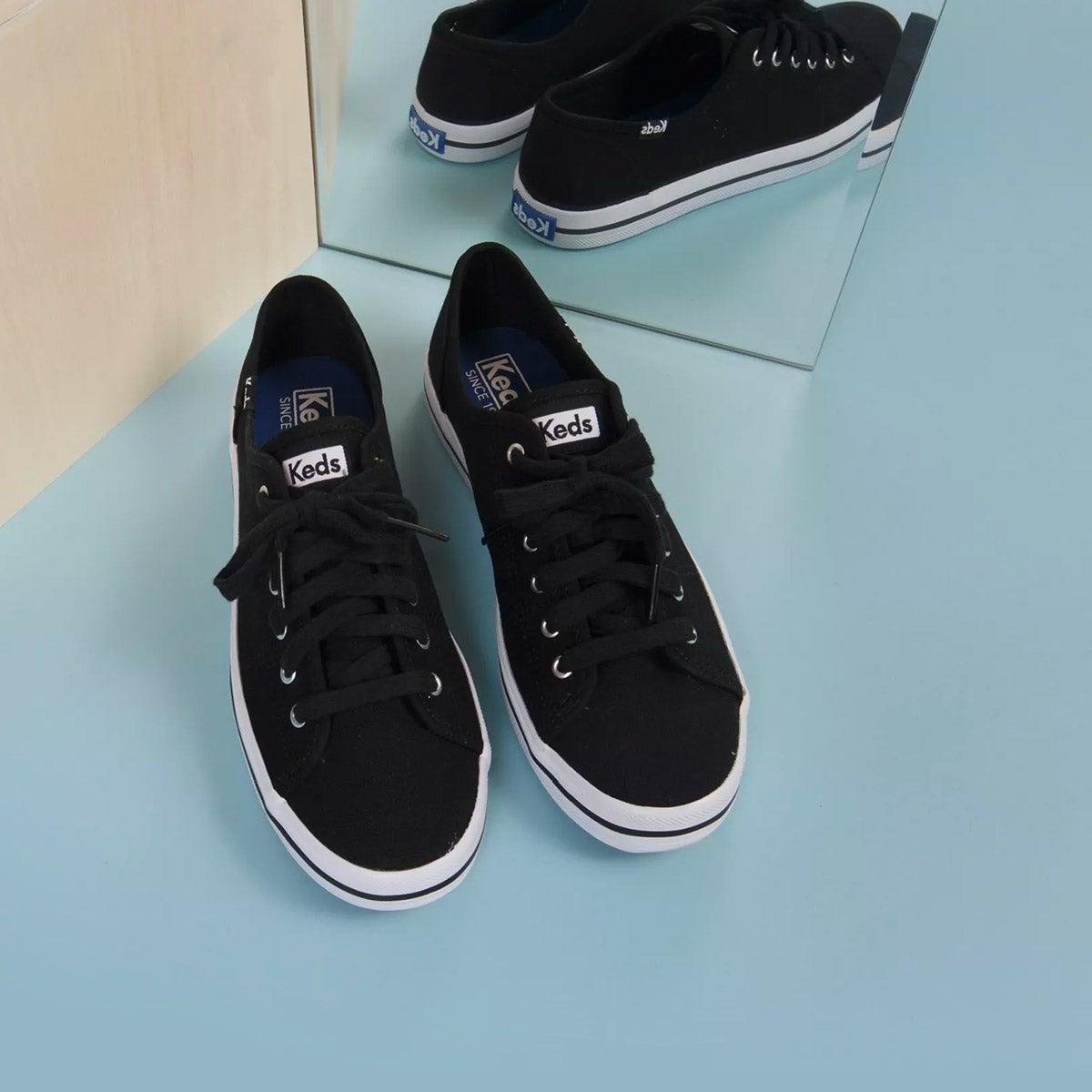 Lds Kickstart black CVO canvas sneaker