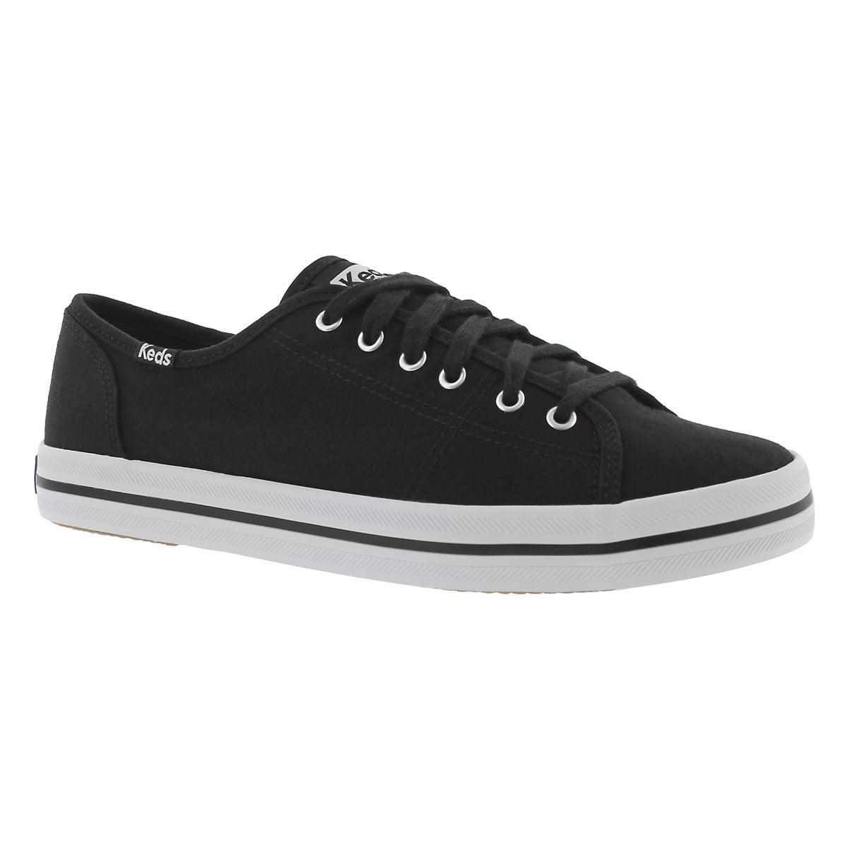 Women's KICKSTART CVO black canvas sneakers