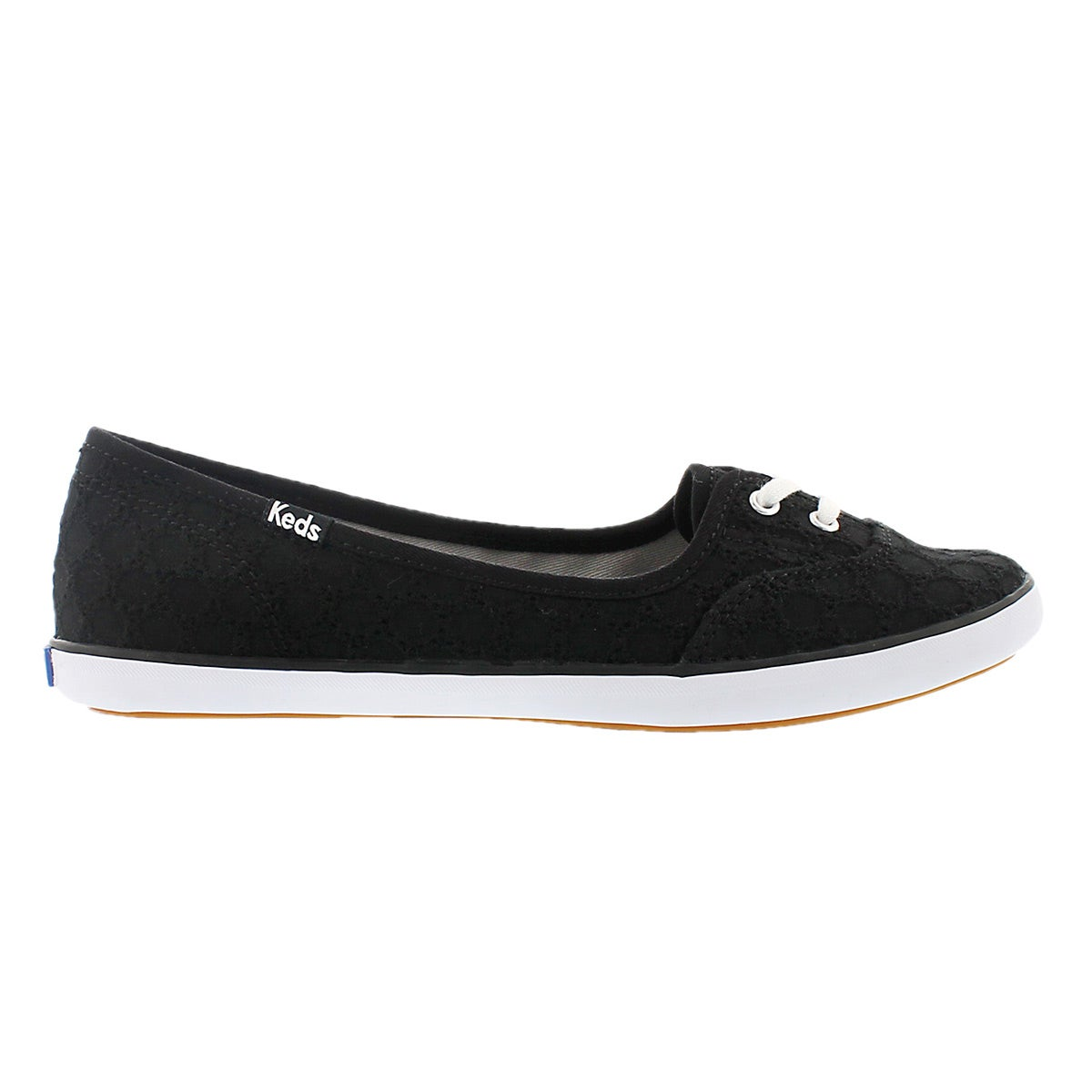 Lds Teacup Eyelet black slip on