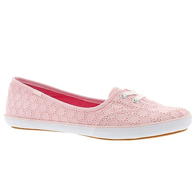 Keds Women's TEACUP EYELET light pink slip ons