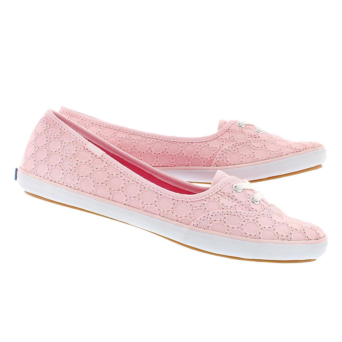 Lds Teacup Eyelet light pink slip on