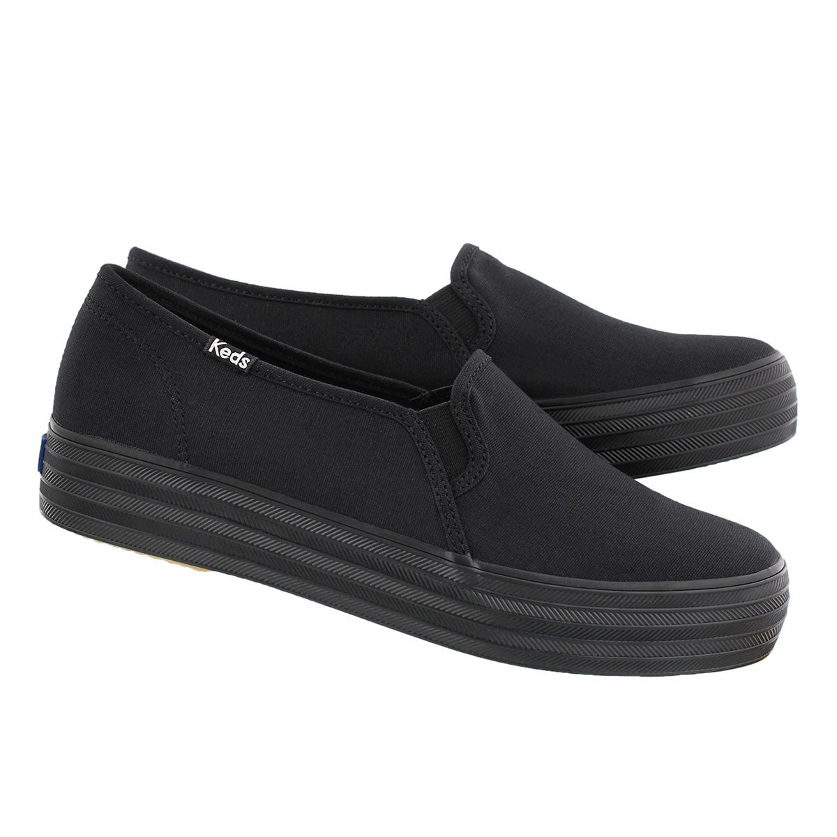 Lds Triple Decker blk/blk slip on