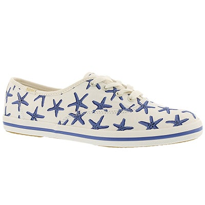 Keds Women's KATE SPADE white/blue sneakers